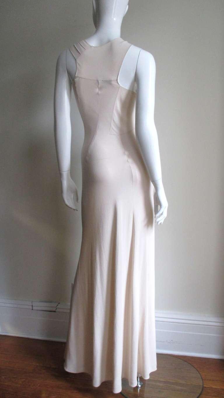 Christian Dior Blush Seam Detail Silk Gown 9