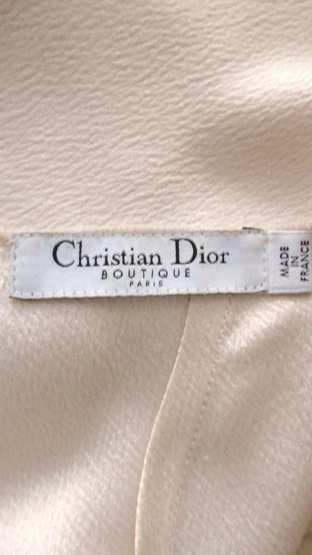 Christian Dior Blush Seam Detail Silk Gown 10