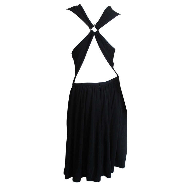 1980s Bill Blass Cross Back Dress