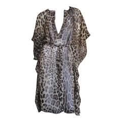 Dolce & Gabbana Leopard Silk Caftan