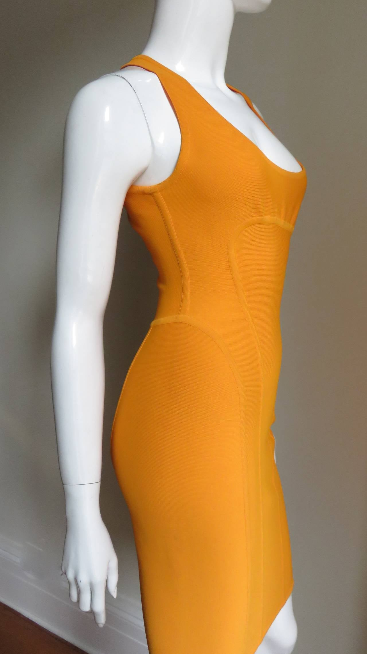 Vintage Herve Leger Bodycon Dress For Sale 2