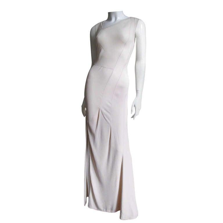 Christian Dior Blush Seam Detail Silk Gown 1
