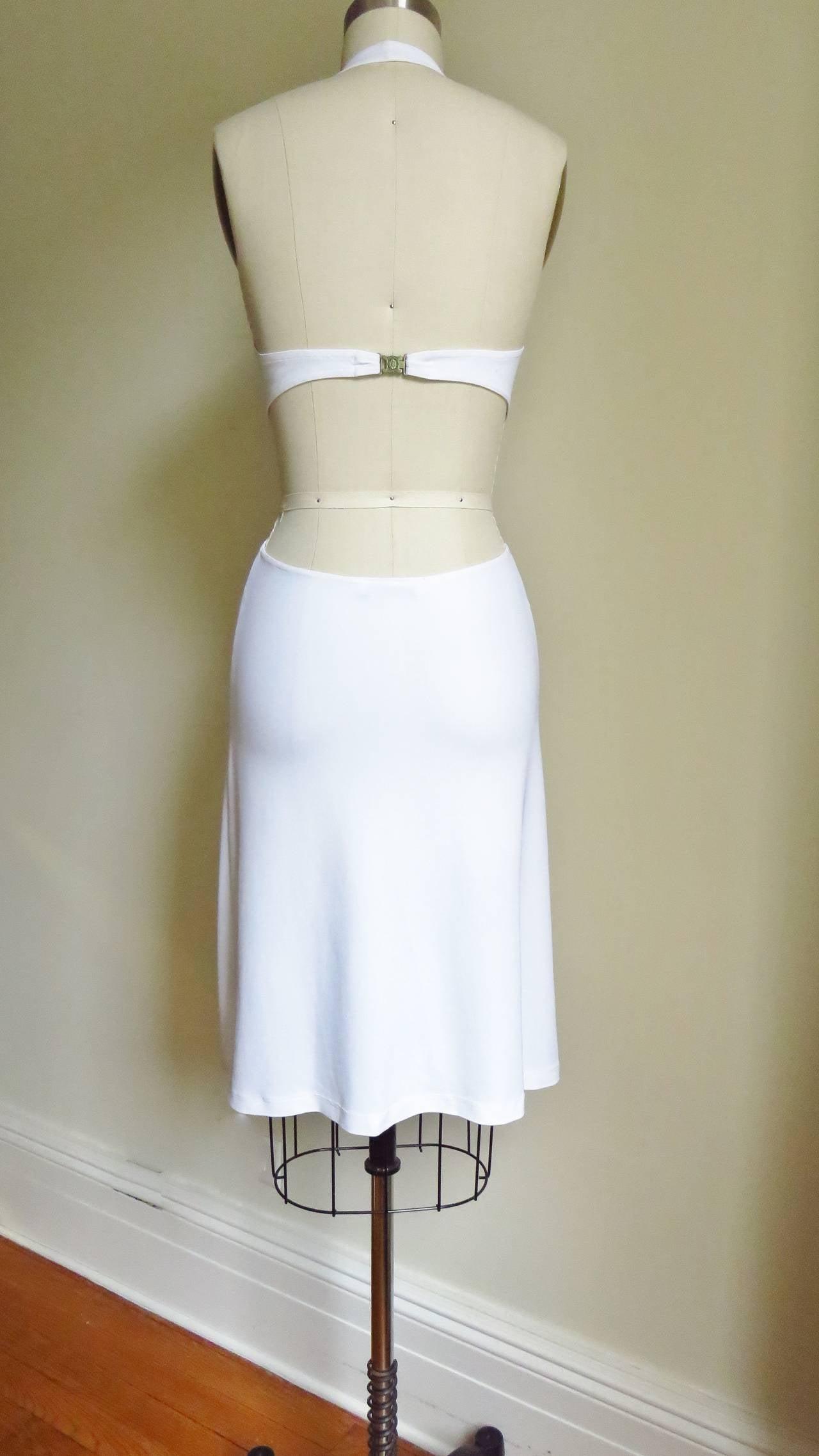 Celine Cutout Deep Plunge Halter Dress For Sale 5