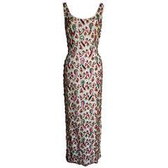 1960's Elaborately Beaded Dress