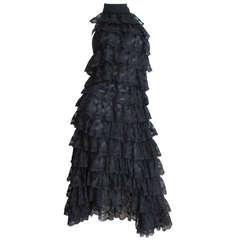 Early Alexander Mcqueen Lace Ruffle Halter Dress