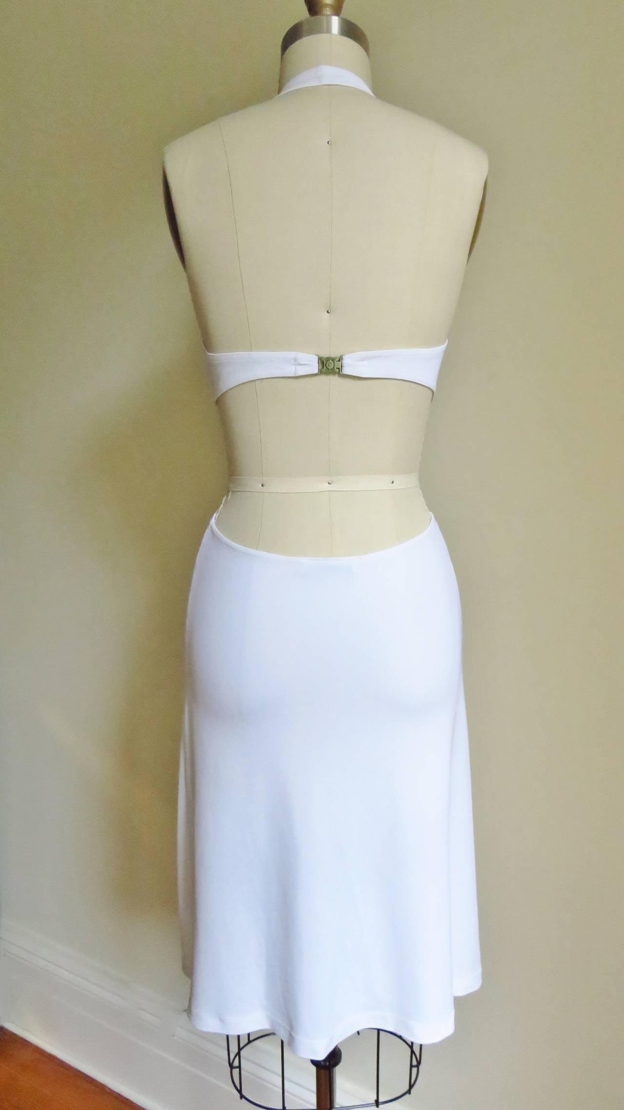 Celine Cutout Deep Plunge Halter Dress For Sale 3