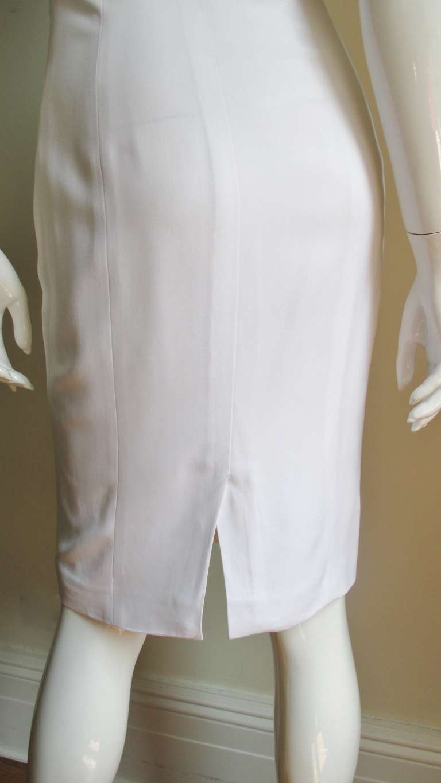 Versace Animal Print Trim One Shoulder Dress For Sale 2