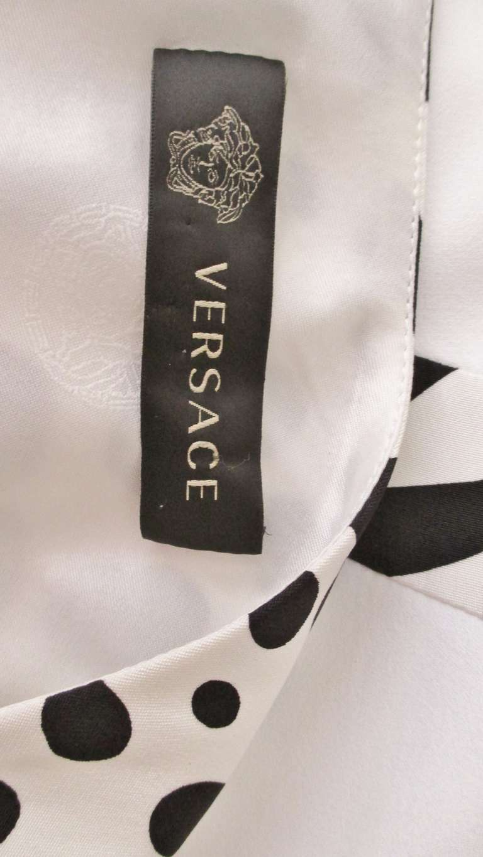 Versace Animal Print Trim One Shoulder Dress For Sale 4