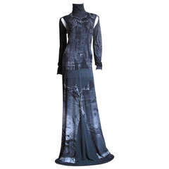 1990s Gaultier Trompe L'oeil Maxi With Detachable Sleeves
