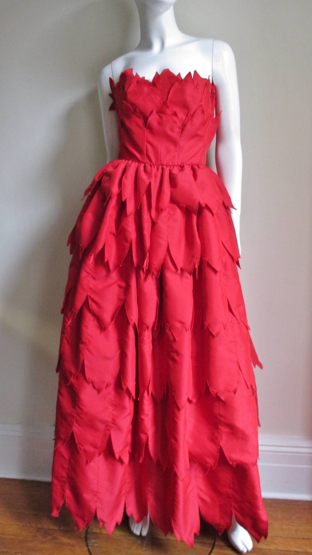 Vintage Travilla ' Flames ' Gown 6