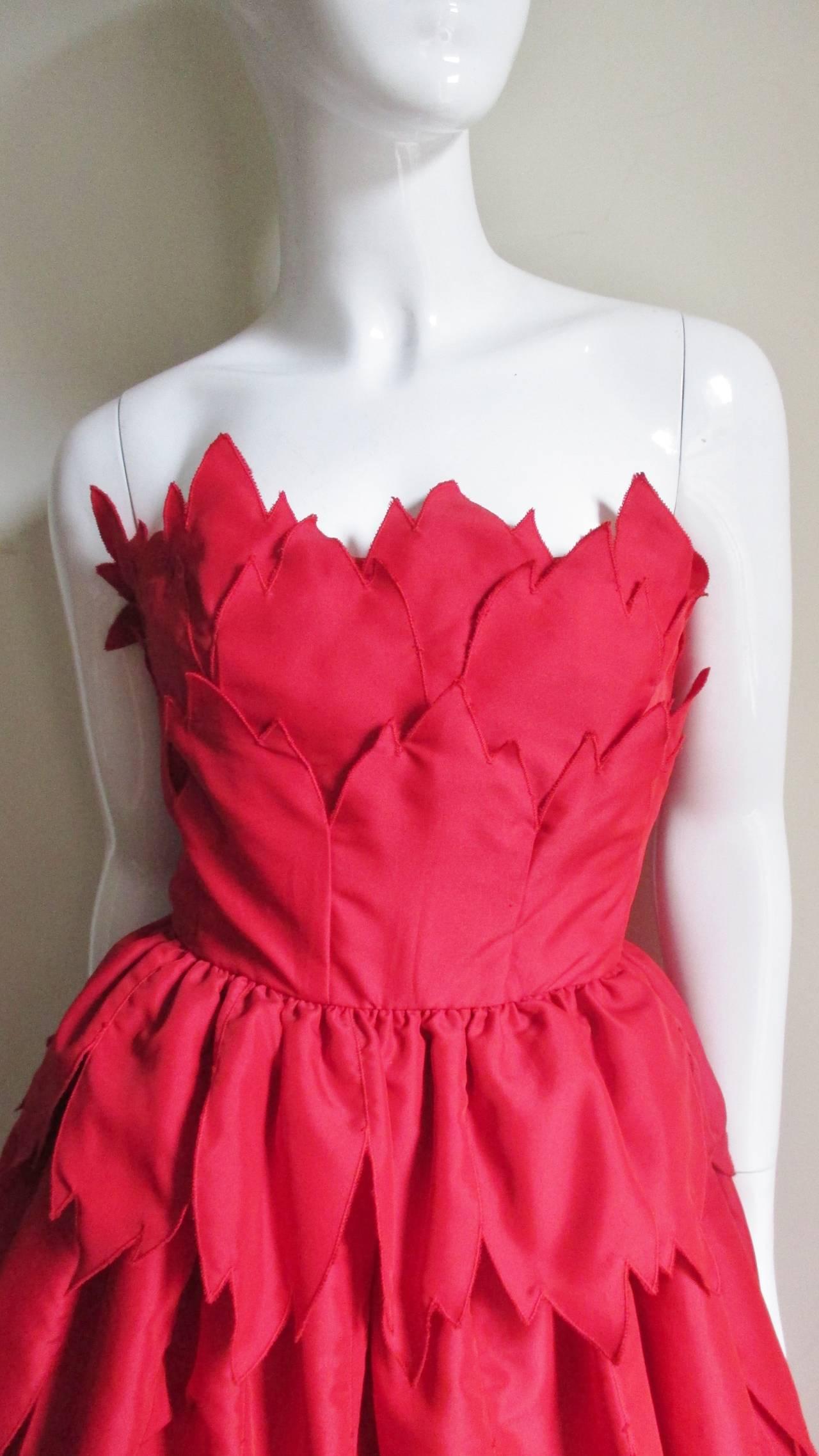 Vintage Travilla ' Flames ' Gown 4