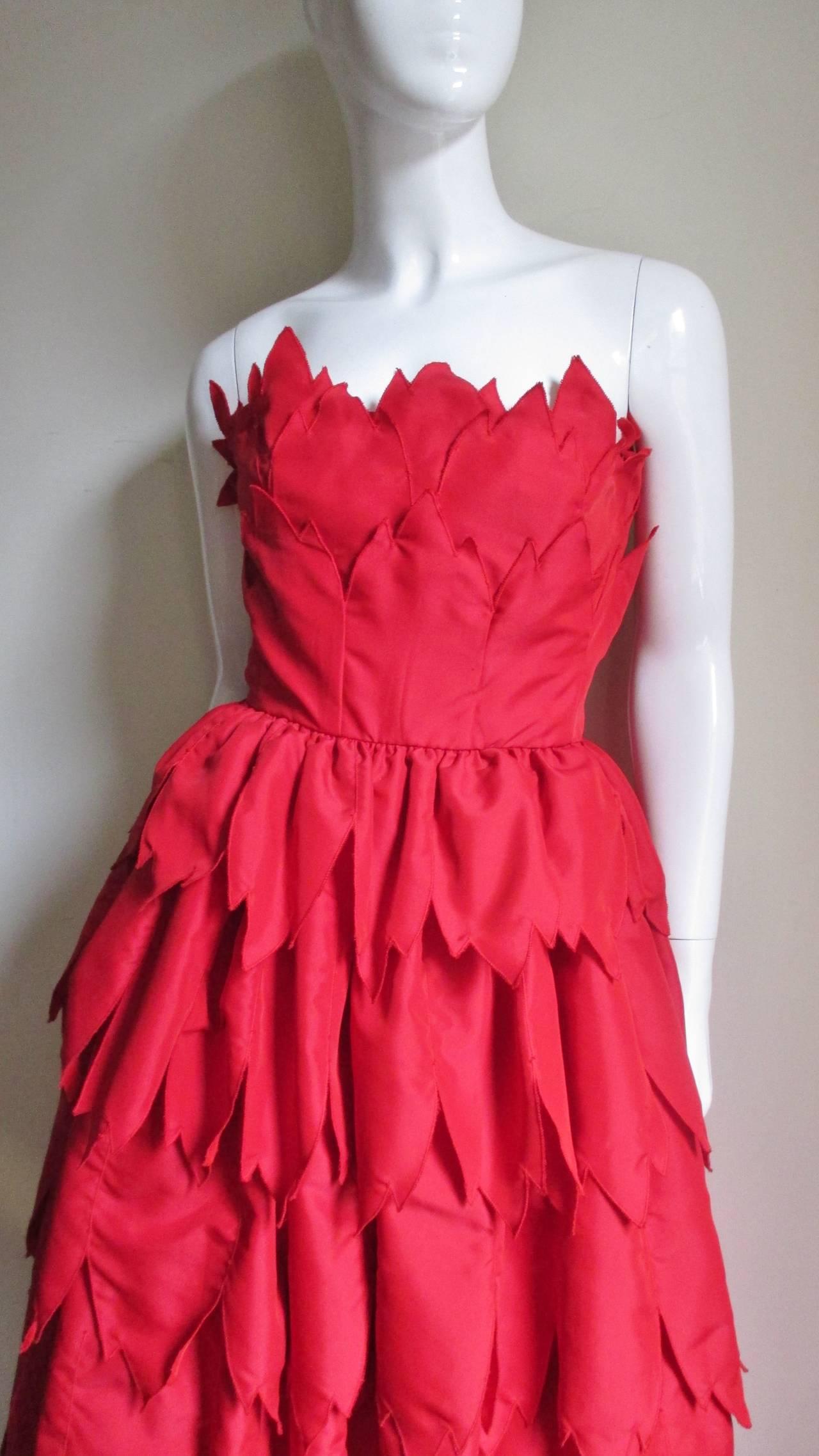Vintage Travilla ' Flames ' Gown 2