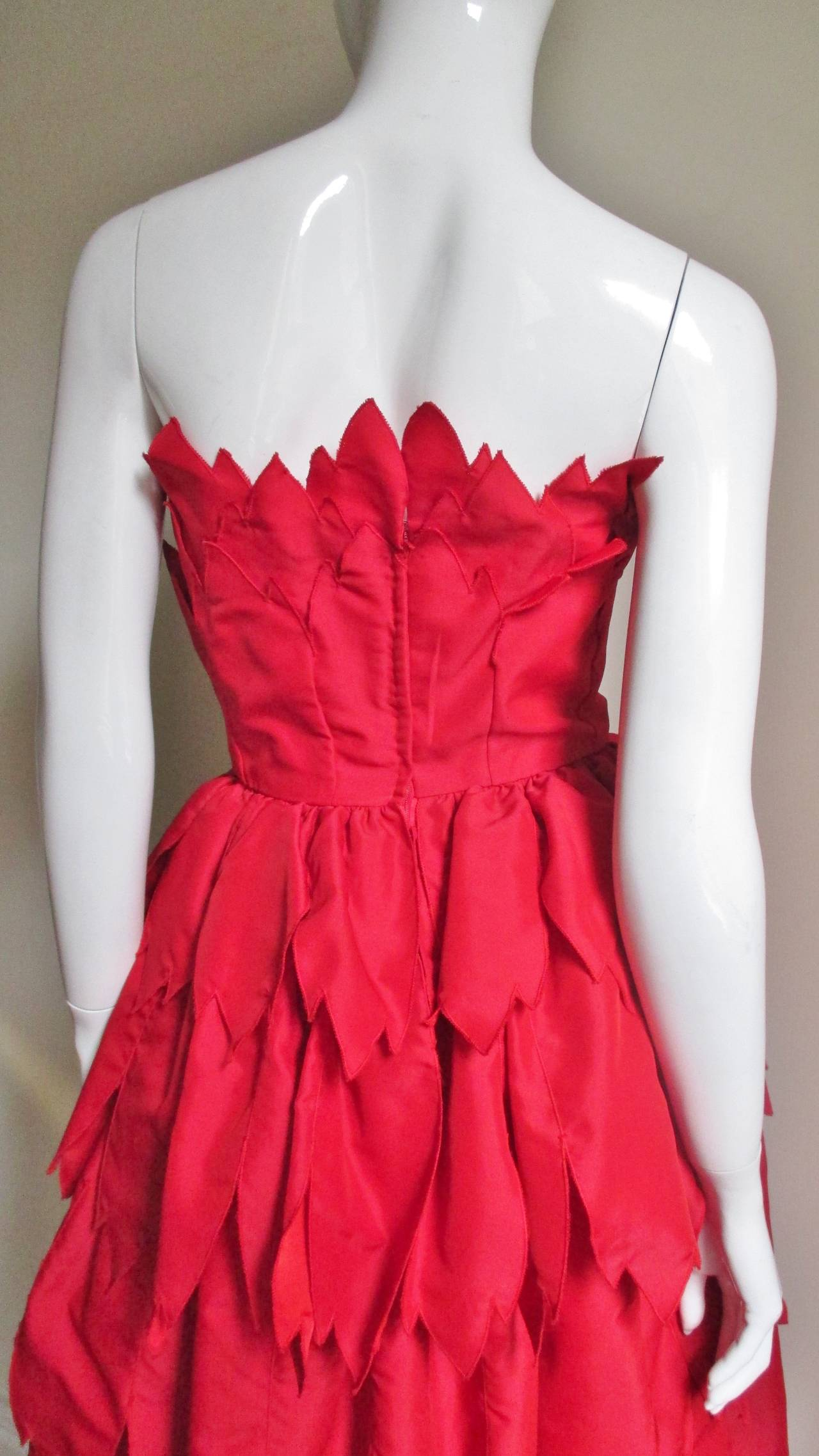 Vintage Travilla ' Flames ' Gown 7