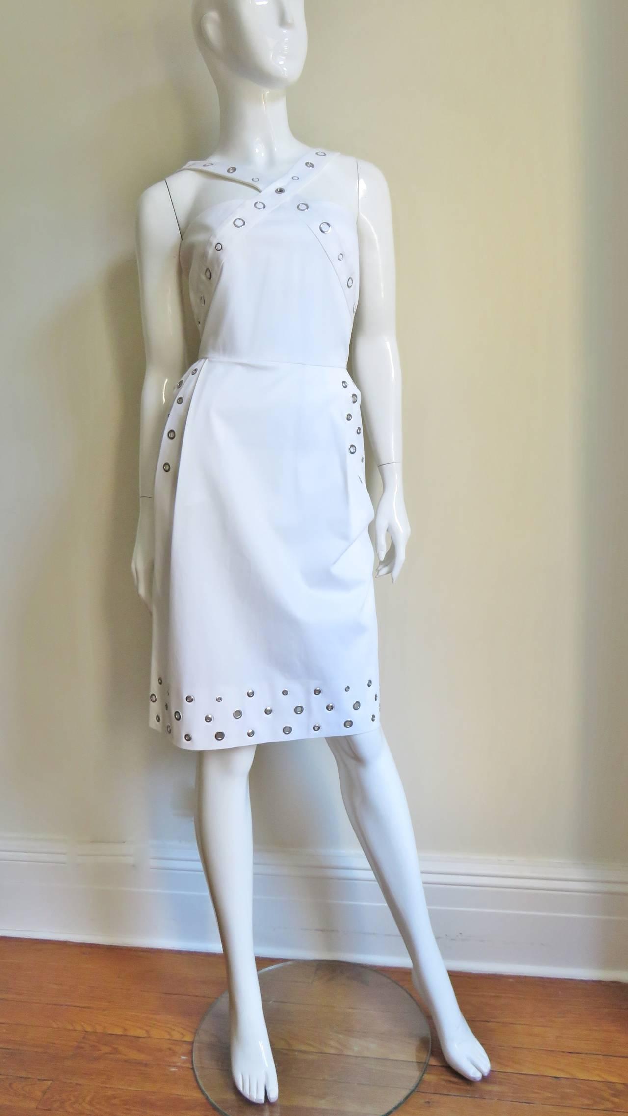 Women's Jean Paul Gaultier Cross Back Dress With Grommets For Sale
