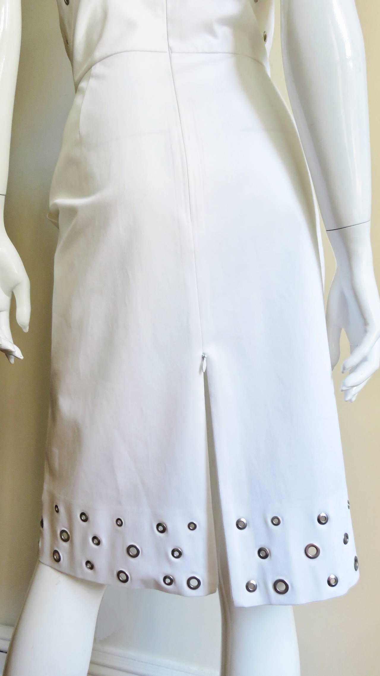 Jean Paul Gaultier Cross Back Dress With Grommets For Sale 3