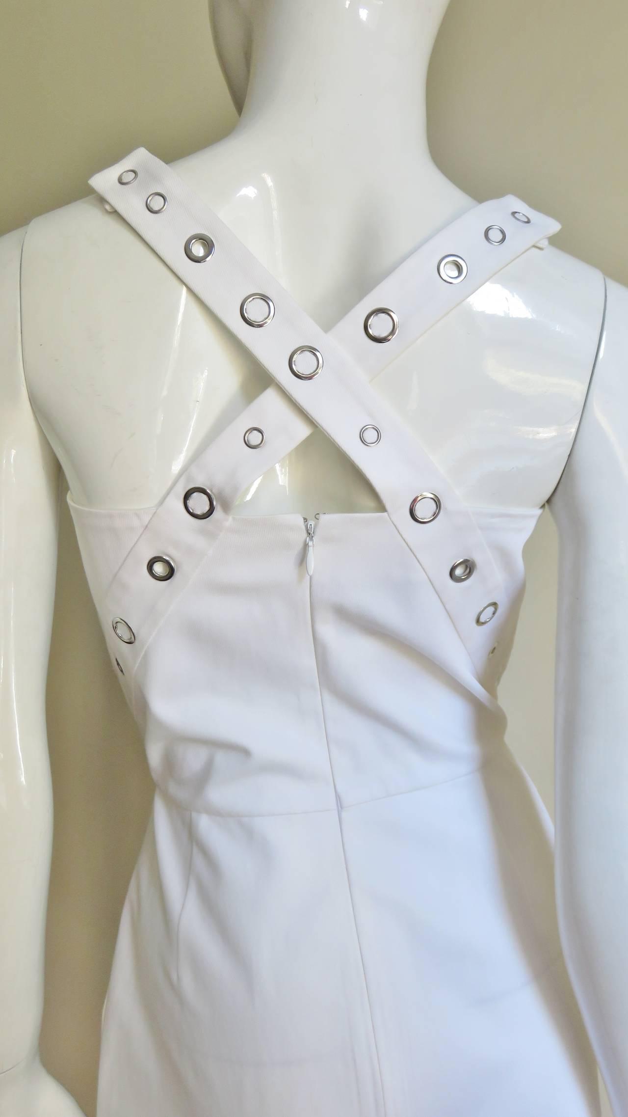Jean Paul Gaultier Cross Back Dress With Grommets For Sale 2