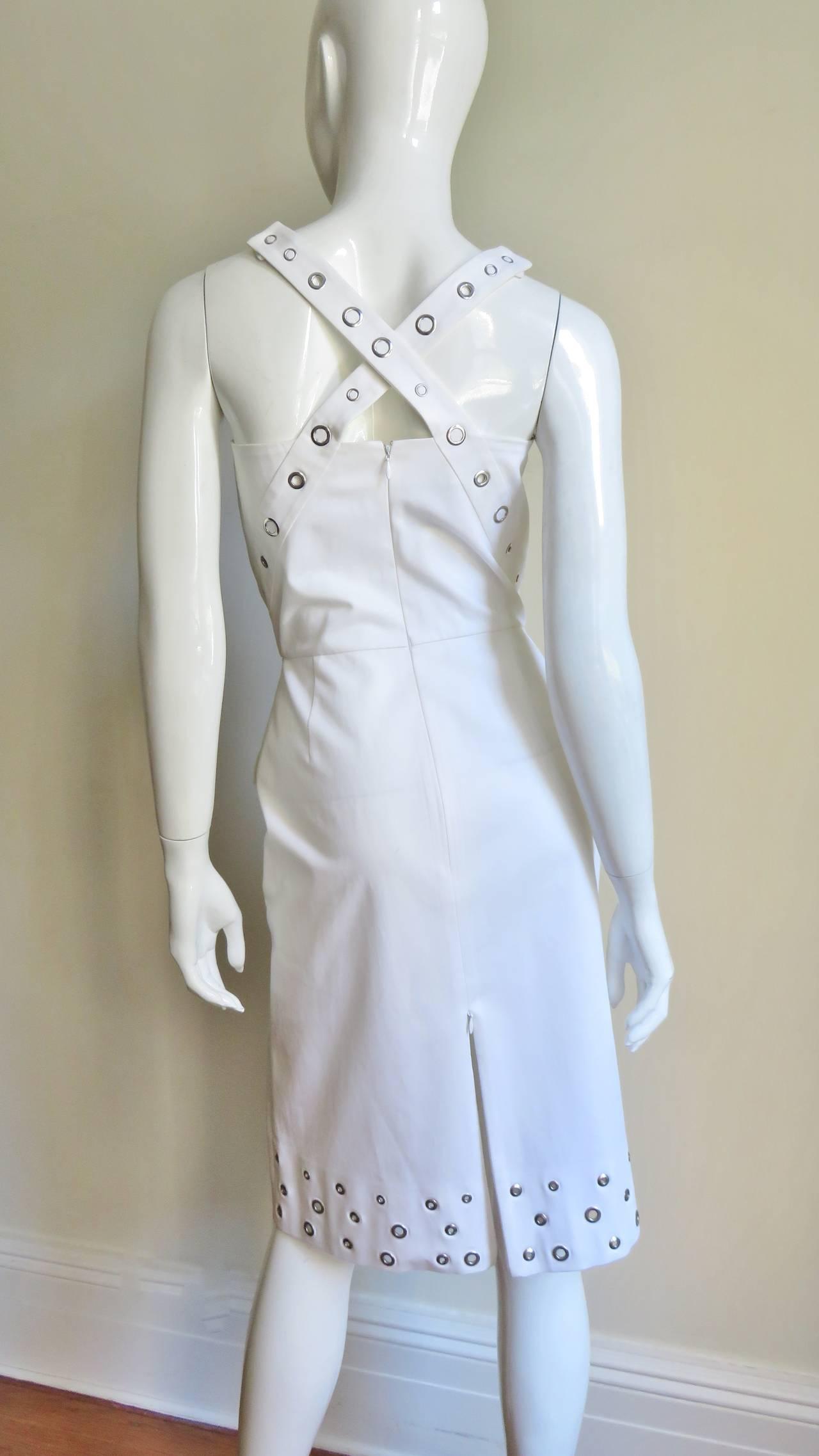Jean Paul Gaultier Cross Back Dress With Grommets For Sale 1
