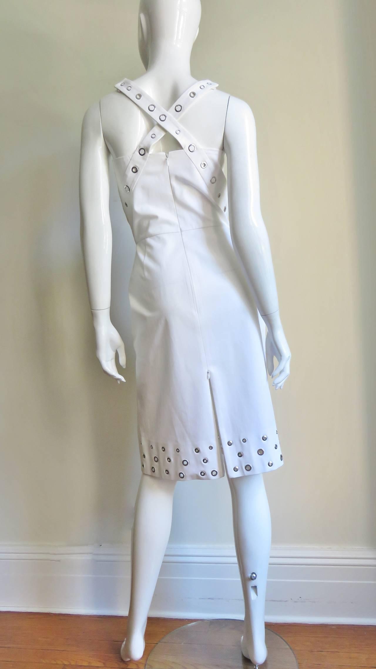 Jean Paul Gaultier Cross Back Dress With Grommets For Sale 4