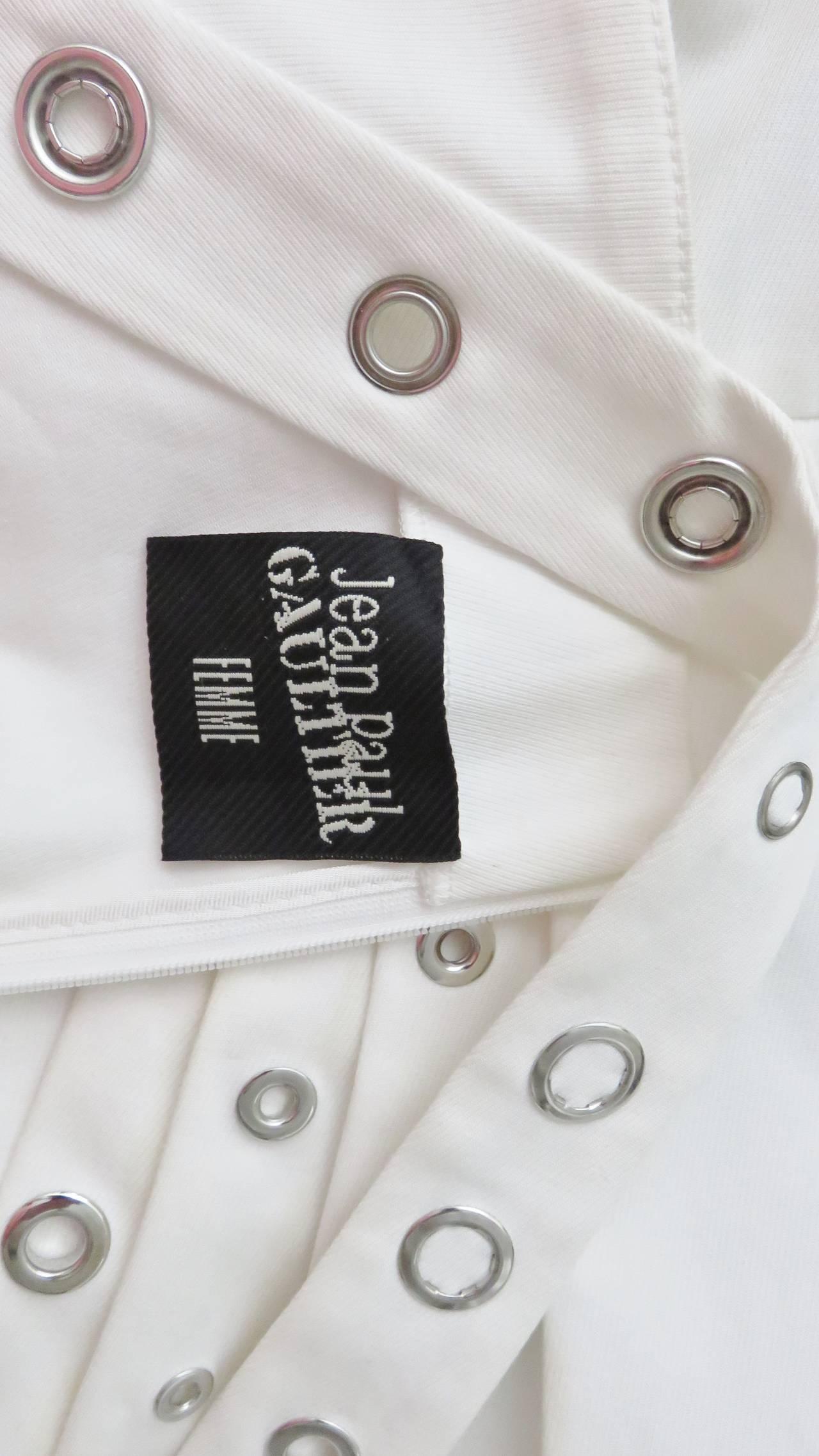 Jean Paul Gaultier Cross Back Dress With Grommets For Sale 5