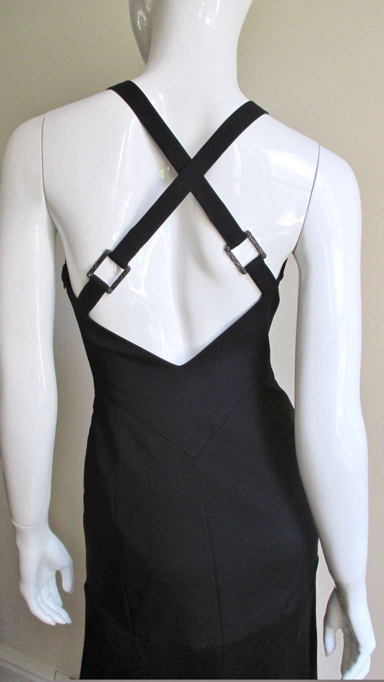 Versace Dress With Zippers & Hardware For Sale 1