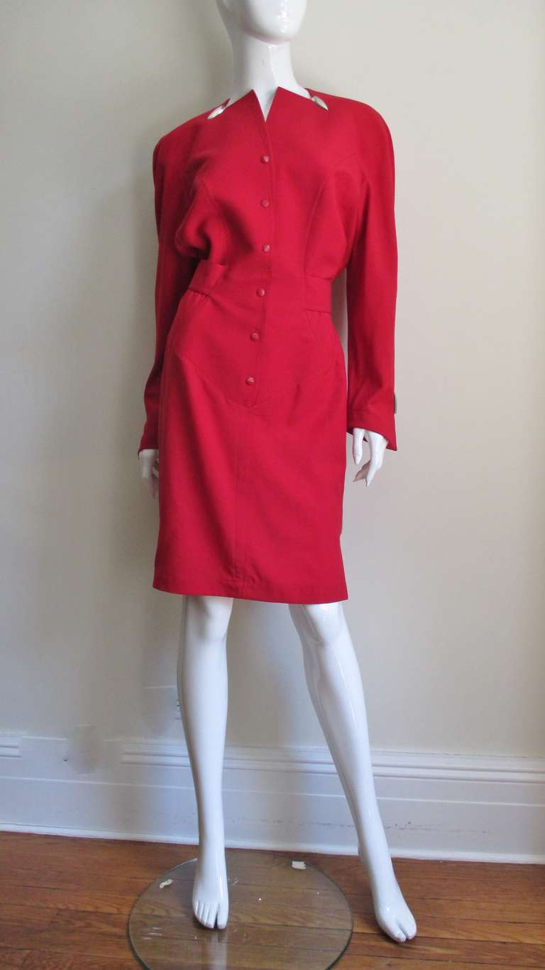 Women's 1980s Thierry Mugler Dress With Hardware For Sale