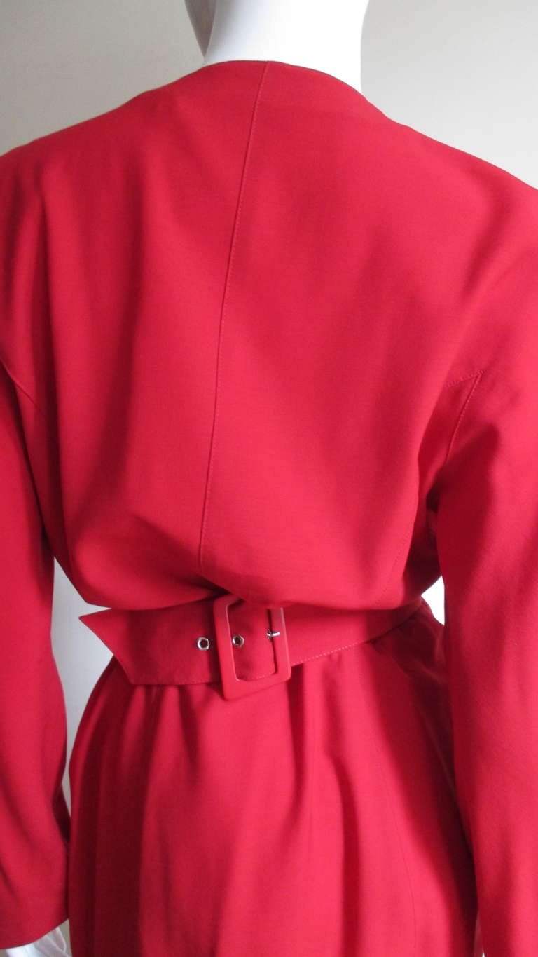 1980s Thierry Mugler Dress With Hardware For Sale 2