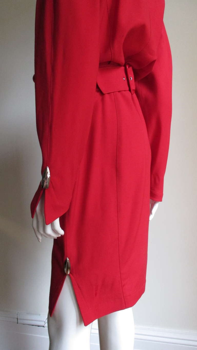 1980s Thierry Mugler Dress With Hardware For Sale 1