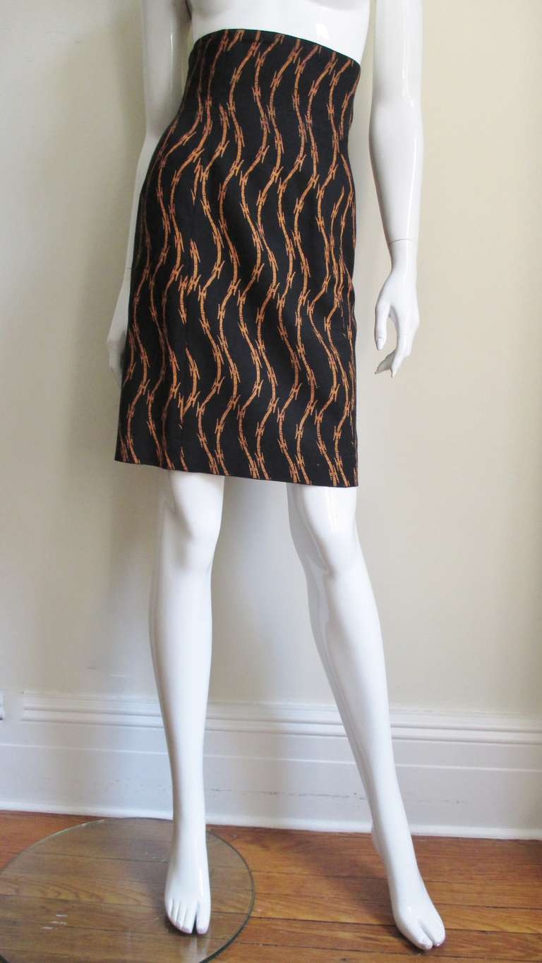 1980s Ionic Stephen Sprouse Barbed Wire Skirt 2