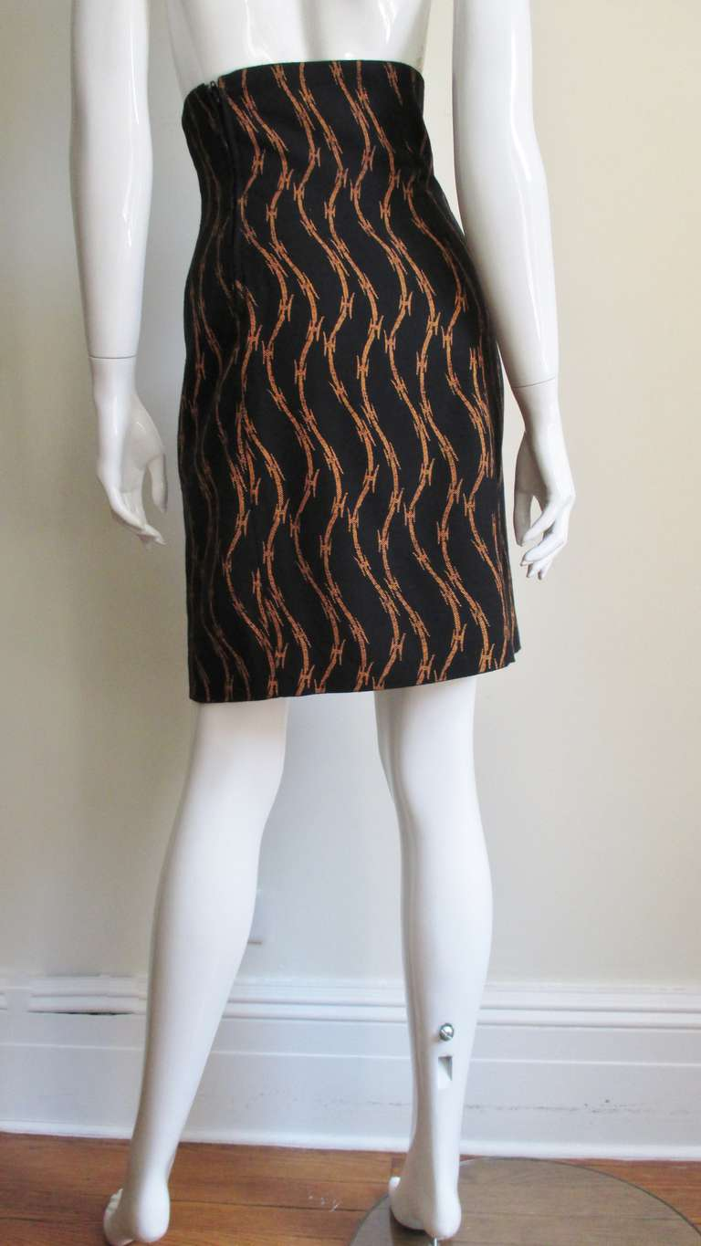 1980s Ionic Stephen Sprouse Barbed Wire Skirt 4