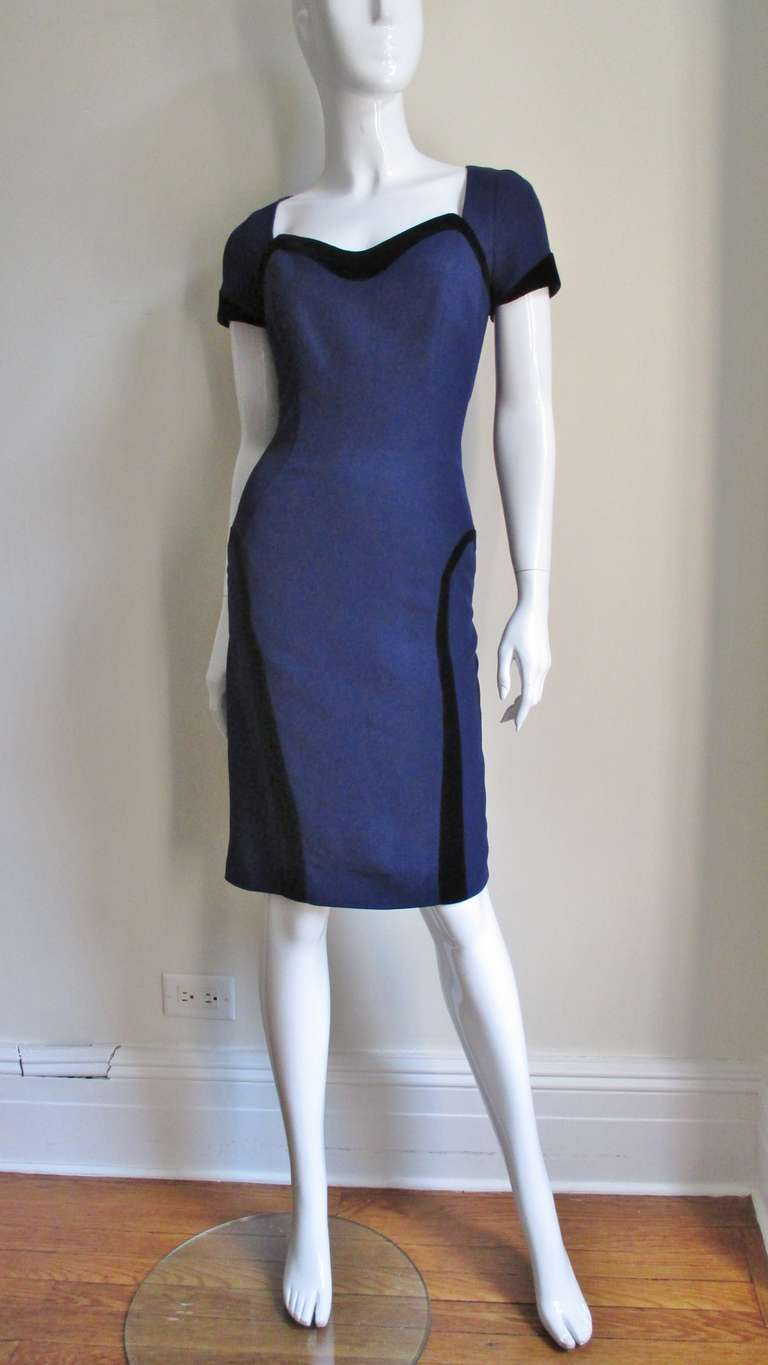 1990s Thierry Mugler Color Block Dress 6