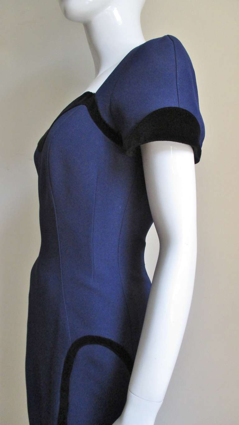 1990s Thierry Mugler Color Block Dress 4