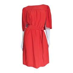 2011 Yves Saint Laurent Silk Caplet Dress