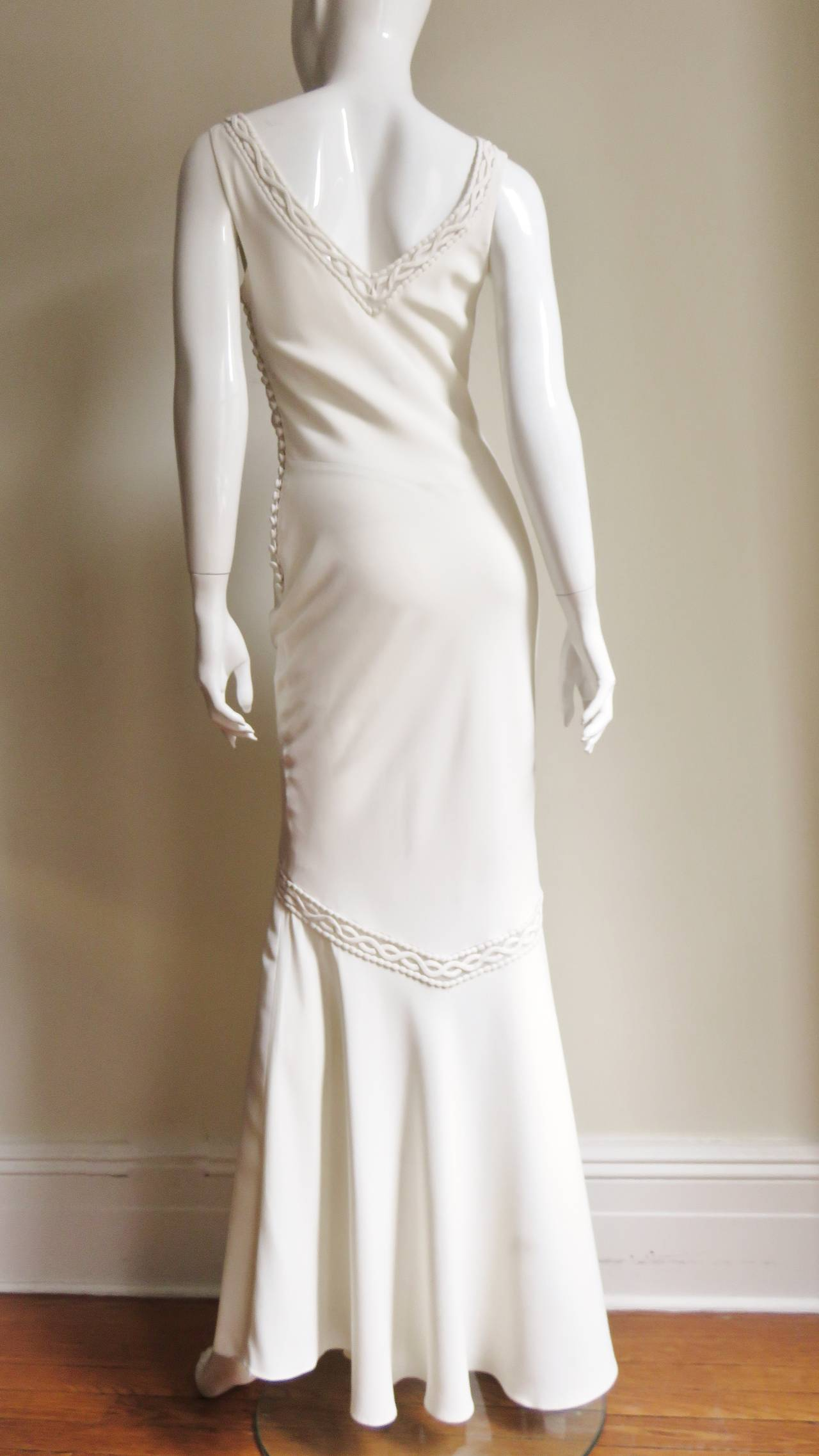 1990s Christian Dior Silk Gown with Intricate Detail  For Sale 4