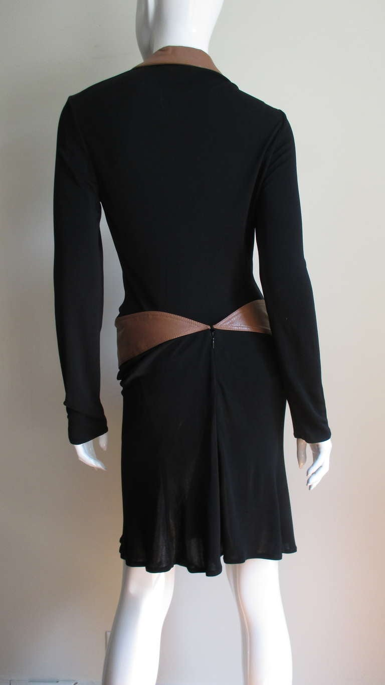 1990s Gianni Versace Vintage Plunge Wrap Dress For Sale 5