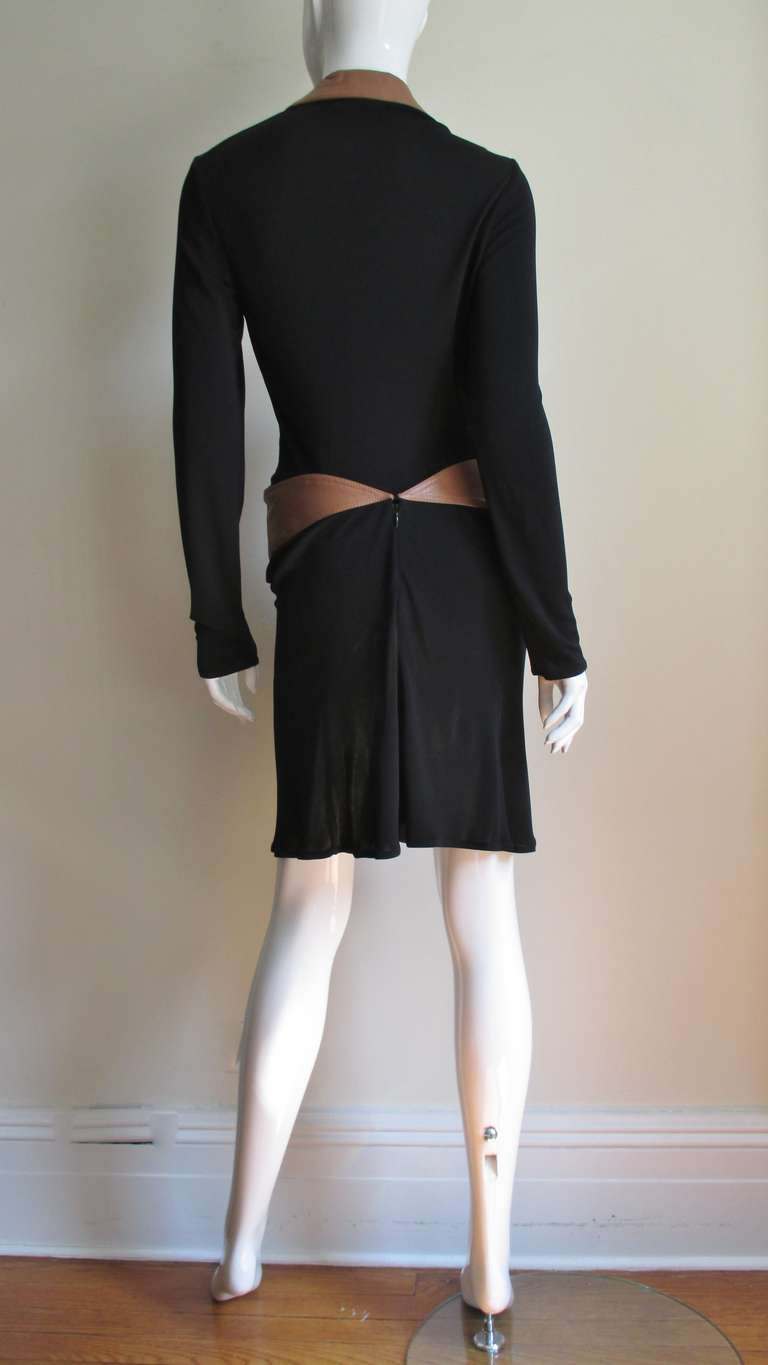 1990s Gianni Versace Vintage Plunge Wrap Dress For Sale 8