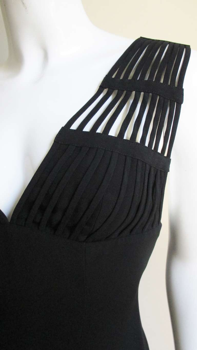 Sophie Sitbon Cage Shoulders Dress In Good Condition For Sale In Water Mill, NY