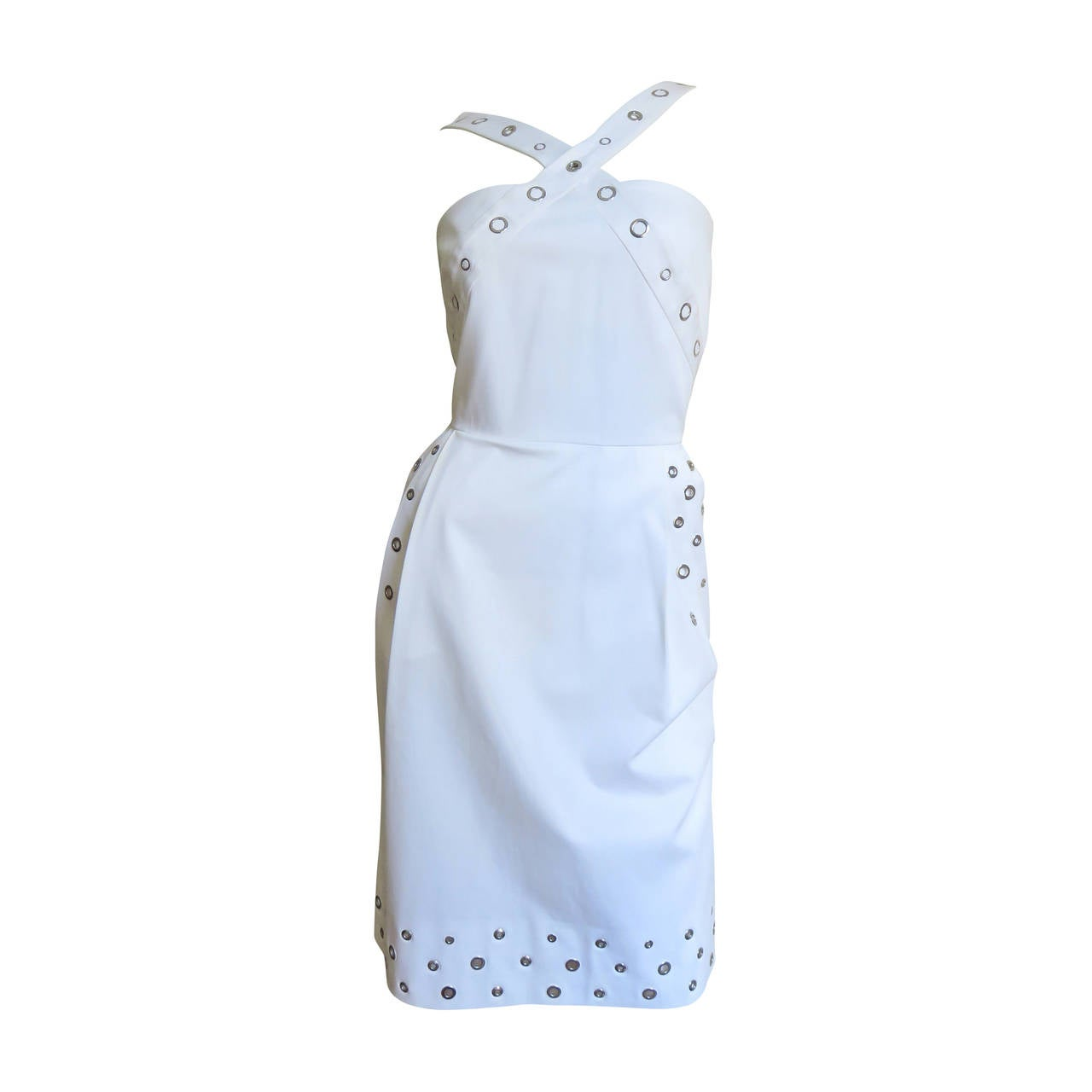Jean Paul Gaultier Cross Back Dress With Grommets For Sale