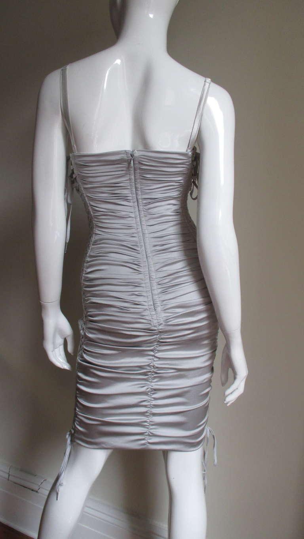 Dolce & Gabbana Side Lace-up Bra Dress For Sale 3