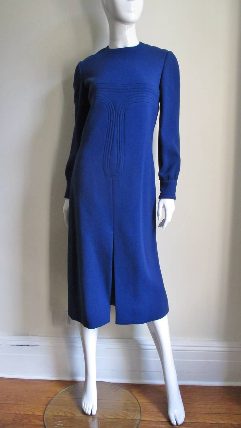 1960's Pierre Cardin Dress With Trapunto Embroidery 6