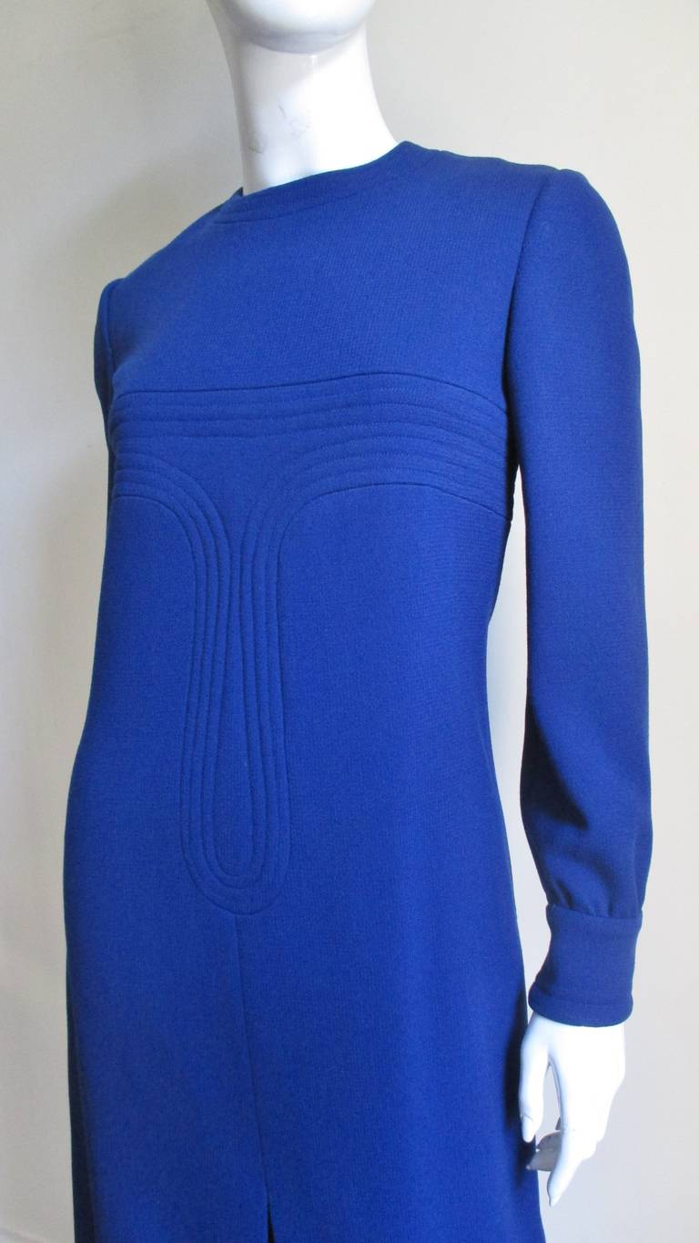 1960's Pierre Cardin Dress With Trapunto Embroidery 2