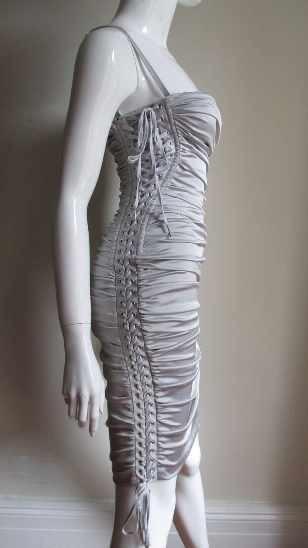 Dolce & Gabbana Side Lace-up Bra Dress For Sale 4