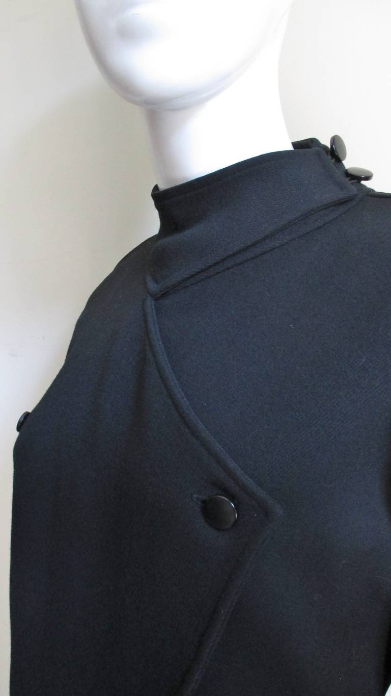 Black 1970S Courreges Dress with Seaming For Sale
