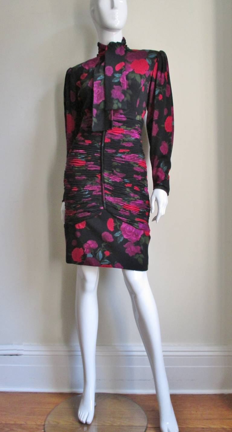 Women's 1990s Ungaro Bodycon Dress with Ruching For Sale