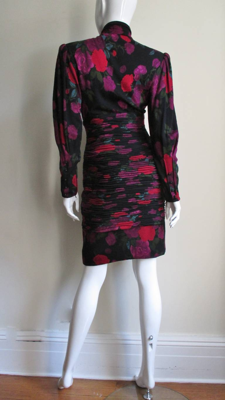1990s Ungaro Bodycon Dress with Ruching For Sale 4