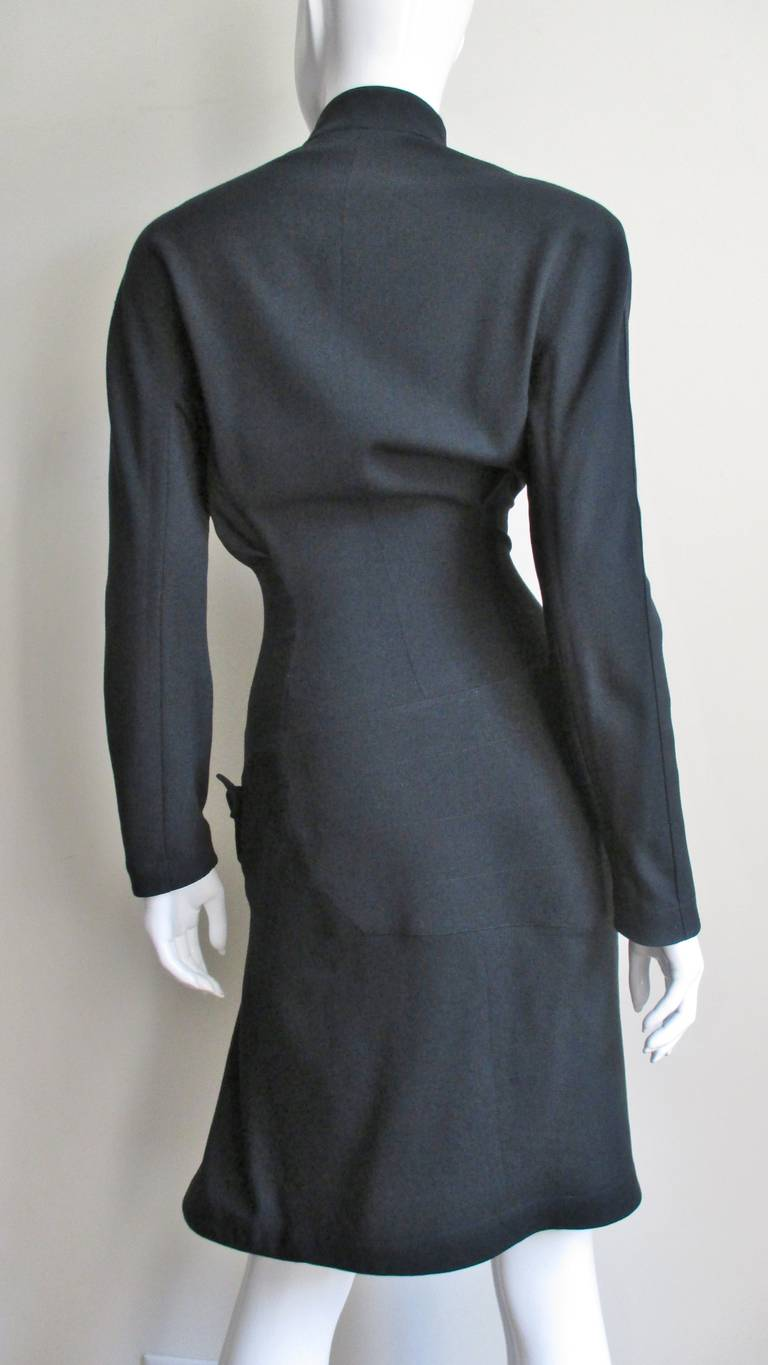 Thierry Mugler Asymmetical Hem Dress 6