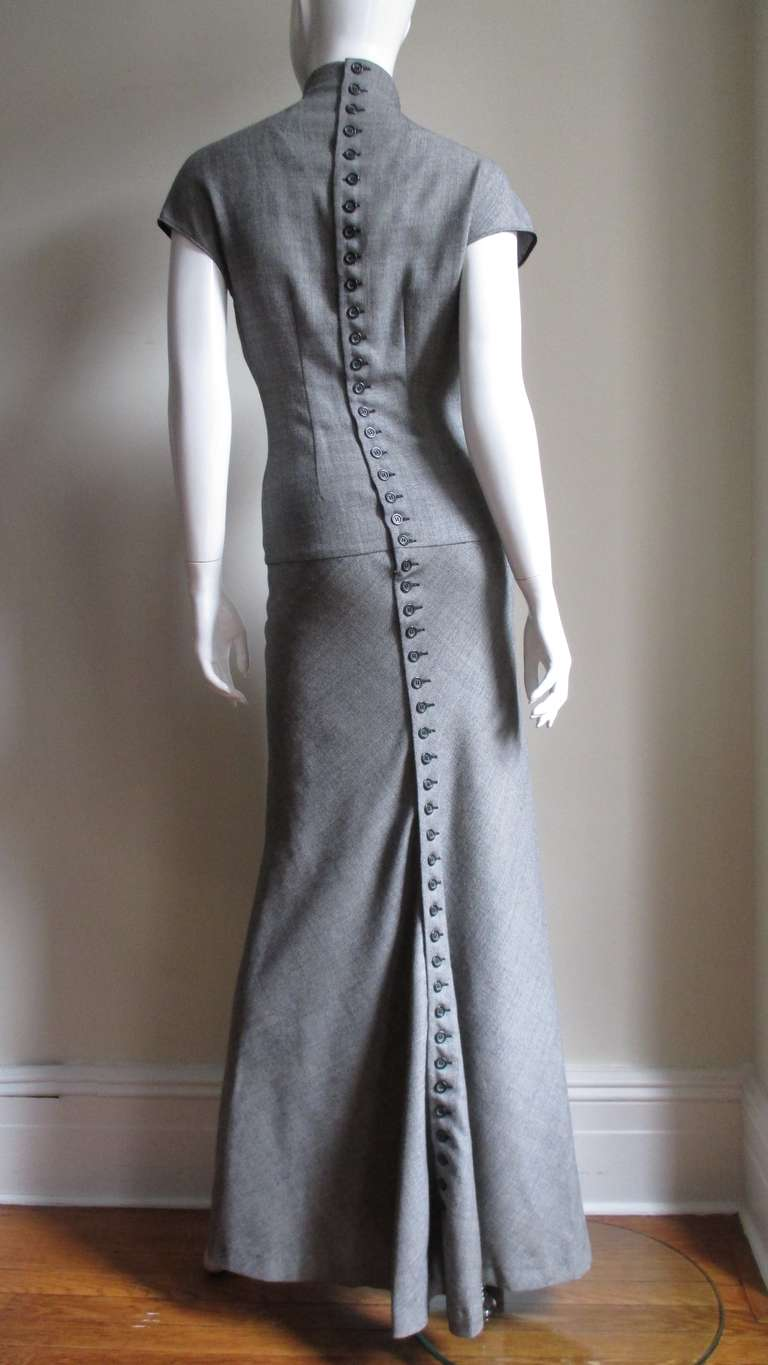 Early Alexander Mcqueen 48 Buttons Back Maxi At 1stdibs