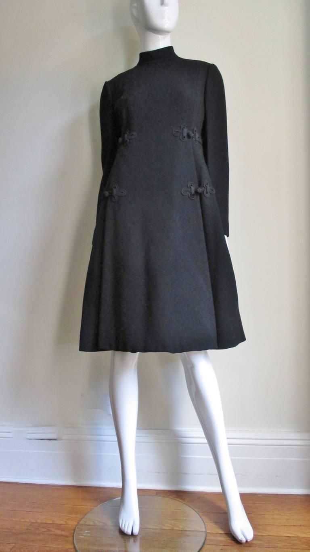 1960's Geoffrey Beene Dress With Frog Closures 4