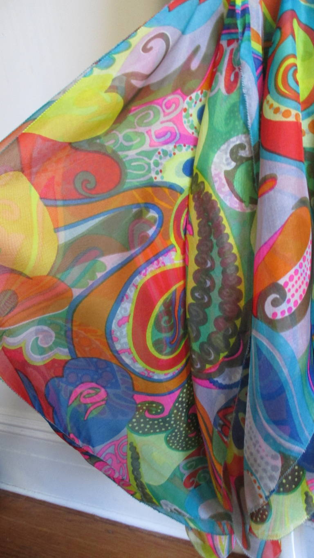 Incredible 1960s Pierre Cardin Psychedelic Orb Hem Dress 5