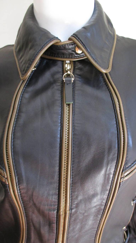 Gianfranco ferre leather jacket
