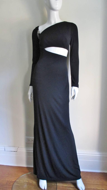 Gianni Versace Mesh & Hardware Cutout Dress 5